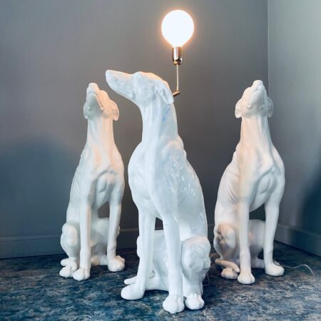 "Lampe ""White Greyhound"" Porselen"