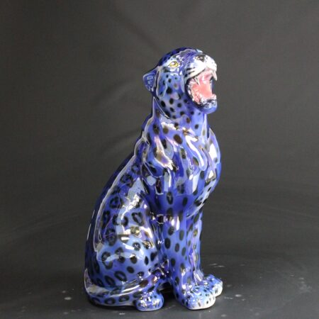 "Porselen ""Leopard"" Metallic Blue 62 cm"