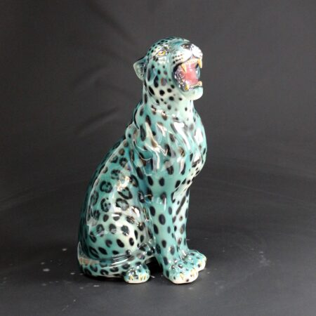 "Porselen ""Leopard"" Metallic Green 62 cm"